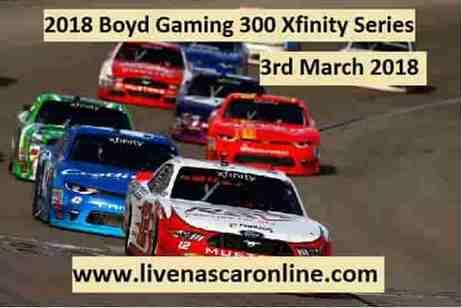 NASCAR Xfinity Series 2018 Las Vegas Live Stream