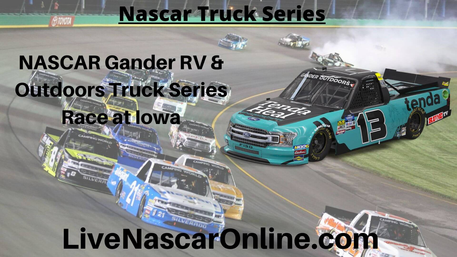 NASCAR Gander RV Online Stream | NASCAR Iowa 2020