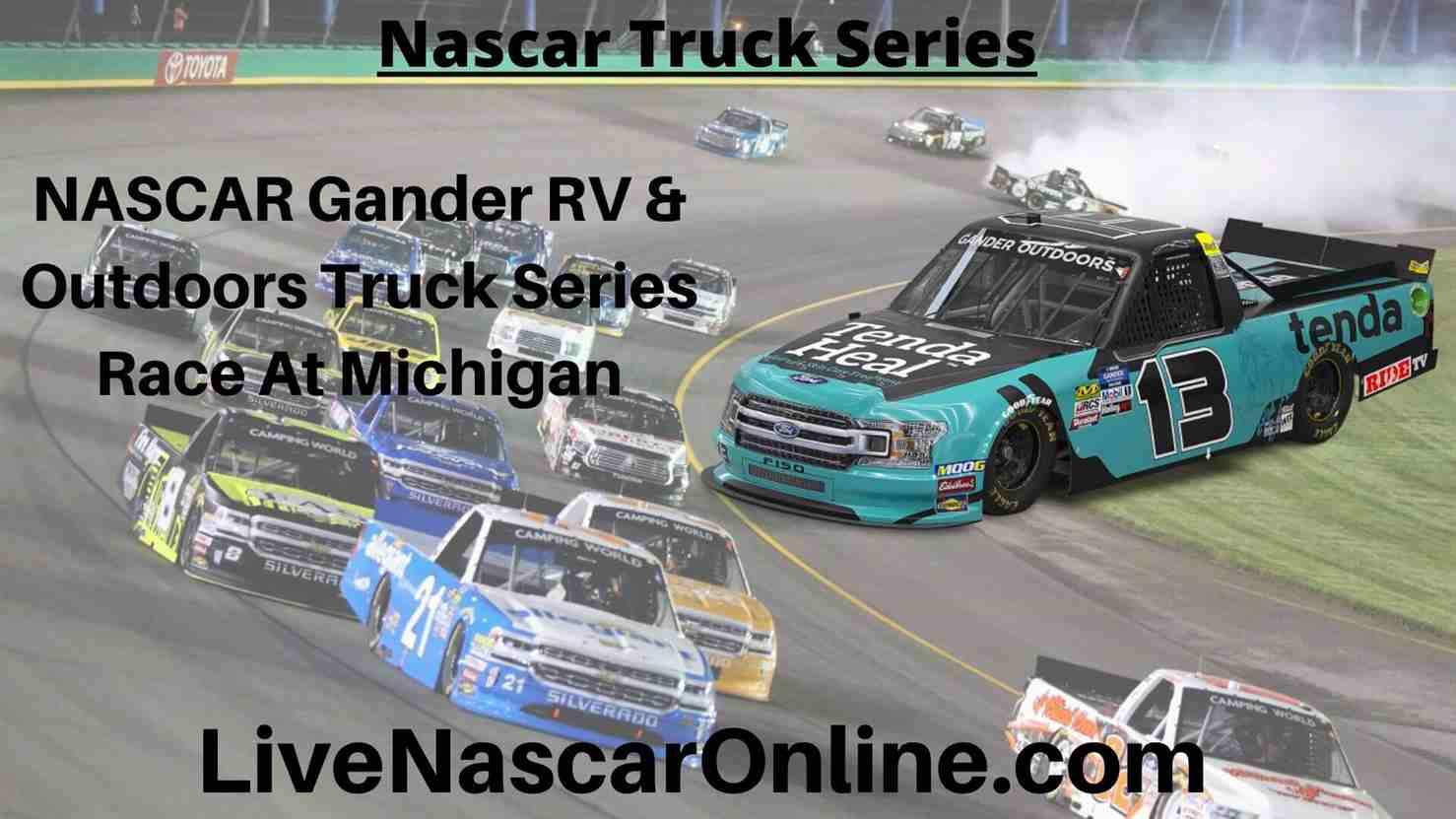 NASCAR Gander RV Online Stream | NASCAR Michigan 2020