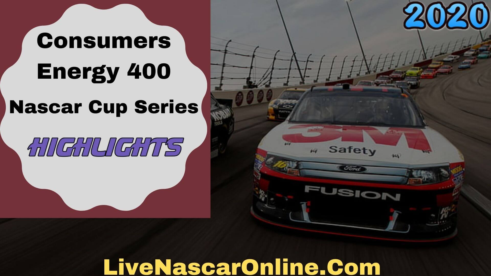 Consumers Energy 400 Nascar Cup Series Highlights 2020