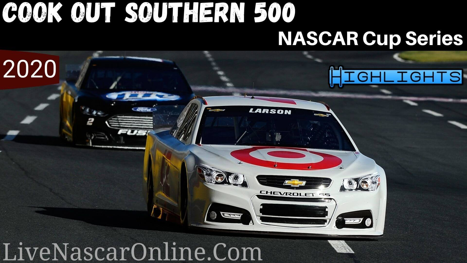 Cook Out SOUTHERN 500 Nascar Cup Series Highlights 2020