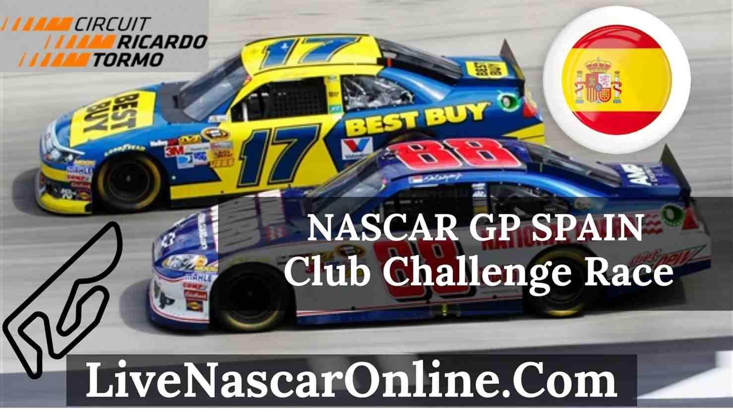 NASCAR GP Spain Club Challenge Race Live Stream 2020