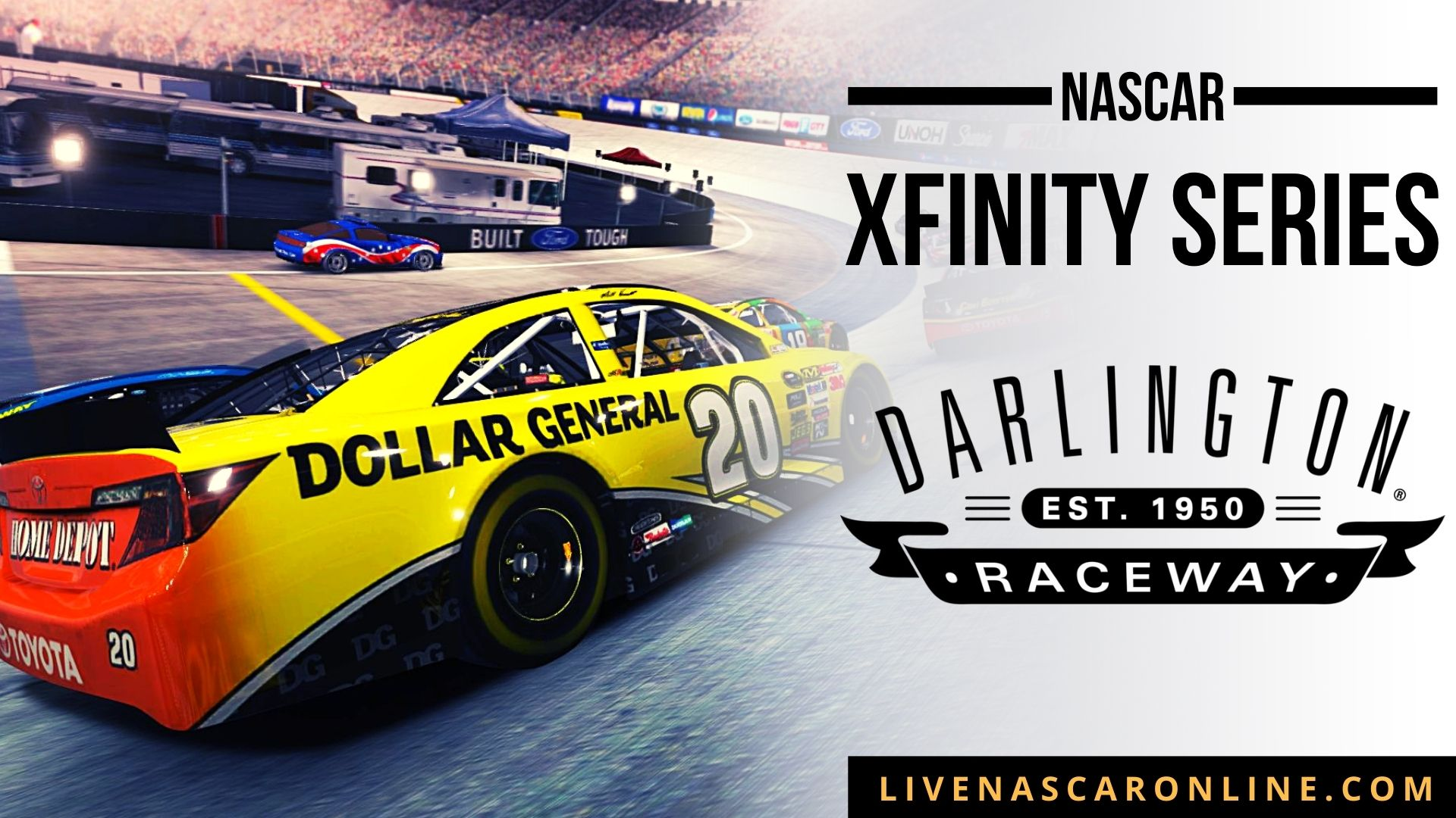 NASCAR Xfinity Race 2 at Darlington Live Stream 2021