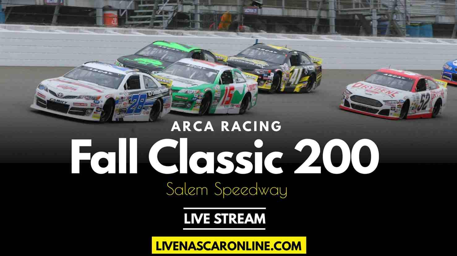 ARCA Fall Classic 200 Live Stream 2021