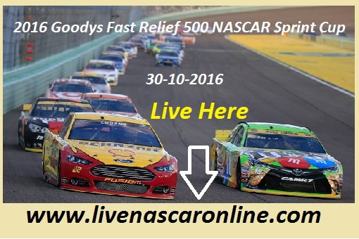 2016 Goodys Fast Relief 500 NASCAR Sprint Cup