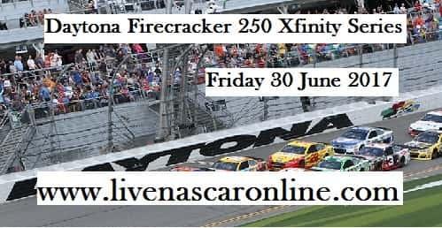 Daytona Firecracker 250 Xfinity Live