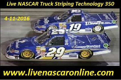 Live NASCAR Truck Striping Technology 350