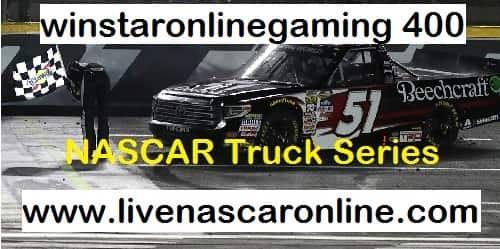 winstaronlinegaming 400 Truck Series live